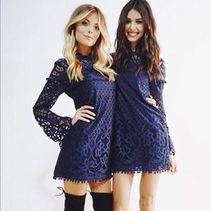 Tularosa X Revolve Matilda Navy lace dress
